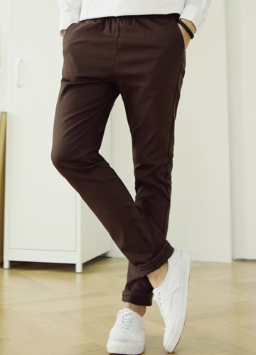 18295 - Basic Basic cotton banding pants <br> (4 size) <br>