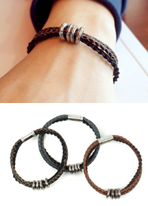 18482 - 3line twist magnet bracelet <br> (3 color) <br>