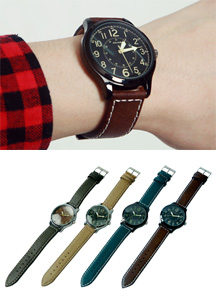 18522 - Simple dial Casual watch <br> (4 color) <br>