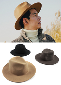 18648 - Wool Fedora <br> (3 color) <br>