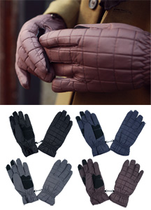 18720 - Square quilting padding gloves <br> (4 color) <br>