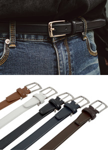 18760 - Cain Leather Belt <br> (5 color) <br>