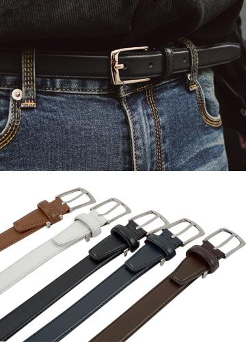 18760 - Cain Leather Belt <br> (5 color) <br>