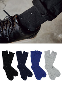 18789 - Simple Dot socks <br> (4 color) <br>