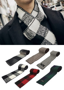 18831 - Petit Patterns muffler <br> (6 colors) <br>