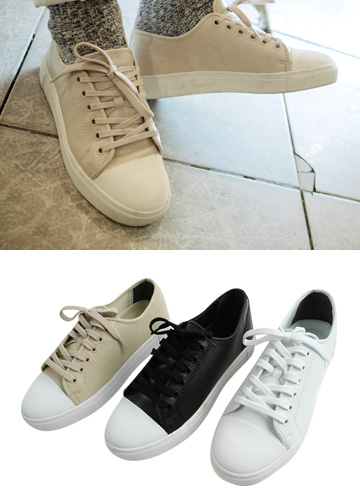 18965 - Basic Leather Sneakers <br> (10 mm) <br>