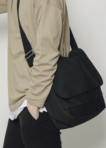 18973 - Cotton Basic cross bag <br>