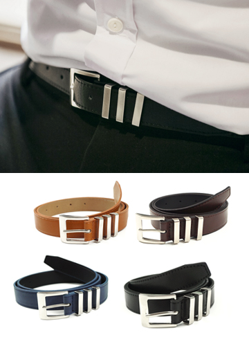 19085 - 3ring Slim Belt <br>