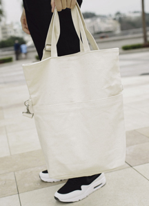 19121 - Cotton pocket folding Eco Bag <br>