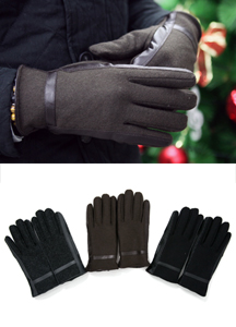 6446 - Wool Patch Gloves <br> (3 color) <br>