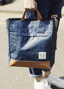 19198 - Unique kraft paper Tote & cross bag <br>