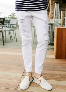 19226 - Cotton Damage Bending Pants <br> (2 size) <br>
