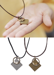 19244 - Square ring Necklace <br/>