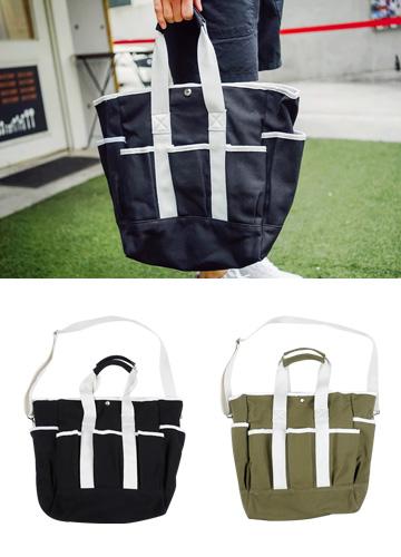 19308 - Multi-pocket Tote & cross bag <br>
