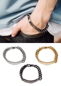 19341 - Metal ring chain bracelet <br>