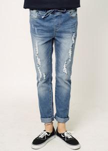 19378 - Regular Damage Banding Pants <br> (6 size) <br>