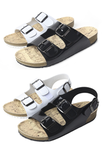 19426 - Enamel Buckles Slippers & Sandals <br> (3 color / 7 size) <br>