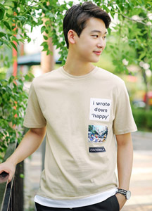 19428 - Robot Patch Knot Tee <br> (2 size) <br><layered 안감><BR>