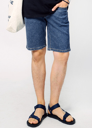 19433 - Span Washing Denim Shorts <br> (4 size) <br>