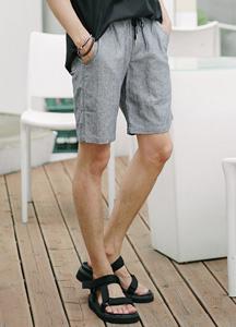 19680 - [MATAMATA] <br> Linen string Bending shorts <br> (2 size) <br>