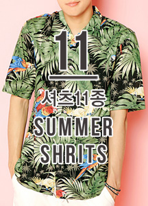 19718 - Summer Shirt <br> 11 kinds of Hawaiian shirt collection <br> (11 type) <br>