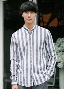 19827 - Bold Stripe Button Shirt <br> (3 size) <br>