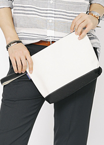 Double Color Cotton Clutch
