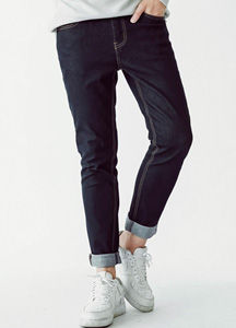 19958 - Deep Color Relaxed Denim Pants <br> (6 size) <br>