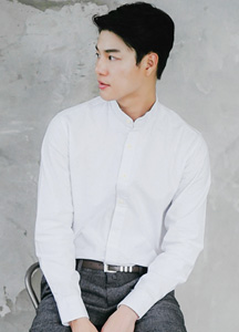 20119 - Brand China Henry Neck Shirt <br> (3 size) <br>