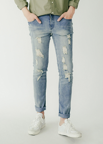 20124 - Cady Damage Denim Pants <br> (6 size) <br>