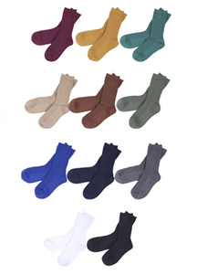 20162 - 11Color Basic Cotton Socks <br> (11 color) <br>