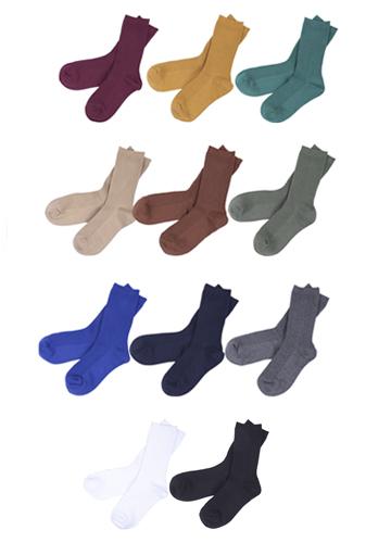 20162 - 11Color Basic Cotton Socks <br> (11 color) <br>