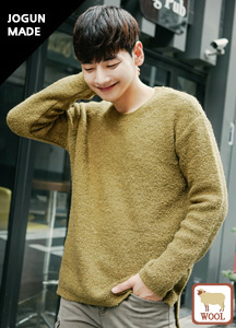 20300 - Wool overfit Round knit <br> (2 size) <br>