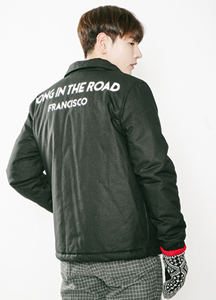 20388 - Lettering Padding Coach Jacket <br> (2 size) <br>
