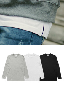 20440 - Practical 100% layered long sleeve tee <br> (3 size) <br>