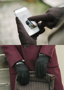 20488 - Wool Velcro Touch Gloves <br> (2 color) <br>