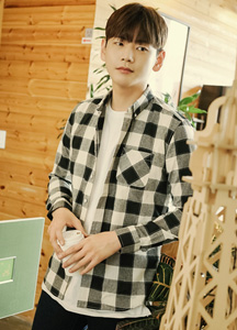 20532 - stitch escape Check Shirt <br> (4 size) <br>
