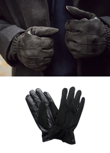 20566 - Men's Black Touch Glove <br>