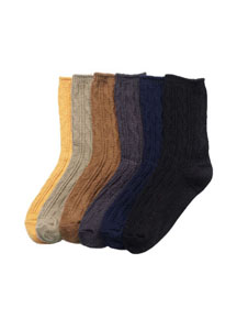 20595 - 6Color Tweets Knit Socks <br> (6 colors) <br>