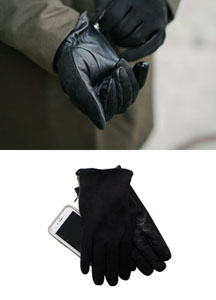 20630 - Zip Suede Touch Gloves <br> (1 color) <br>