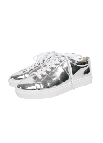 20786 - Silver simple Sneakers <br> (10 mm) <br>