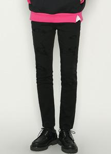 20800 - Latex Black Damage Jeans <br> (4 size) <br>
