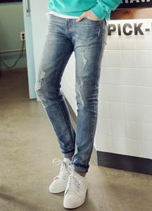 20835 - Clean-Damage Denim Pants <br> (4 size) <br>