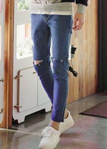 20864 - Sentimental Blue Cutting Jean <br> (4 size) <br>