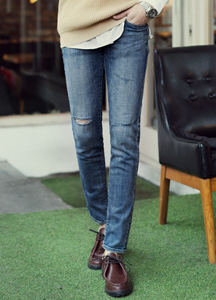 20924 - Senior knee-cutting Jeans <br> (4 size) <br>