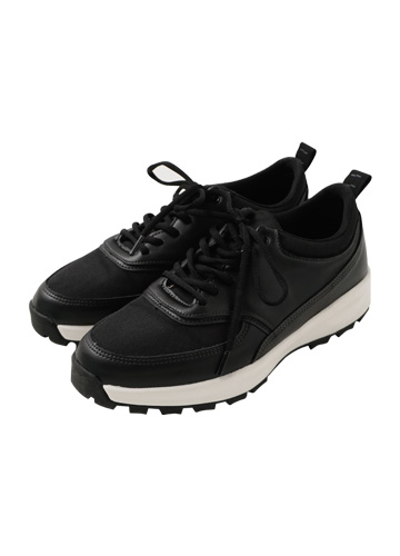 20948 - <b>6cm high-level shoes</b> <br> Motto two tone Sneakers <br> (5 mm) <br>