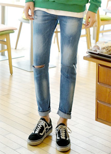 21016 - Lightning knee-cutting Jeans <br> (4 size) <br>