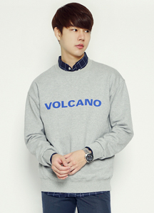 21040 - Volcano Lettering Man to man <br> (1 size) <br>