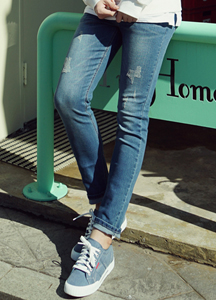 21056 - Lane Scratch Damage Jeans <br> (4 size) <br>