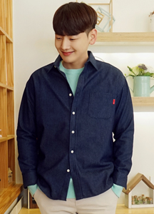 21081 - Cloth Denim Over Shirt <br> (2 size) <br>